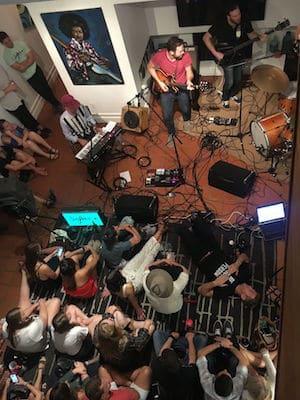 Sofar Sounds pop up concert at The Graeber House in Austin