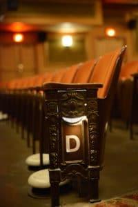 Classic seats in Austin's historic Paramount Theatre