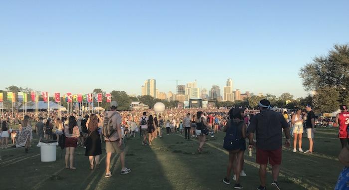 Austin City Limits (ACL) Festival skyline 2017