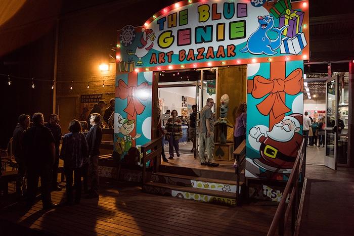 Shoppers at Austin's Blue Genie Art Bazaar